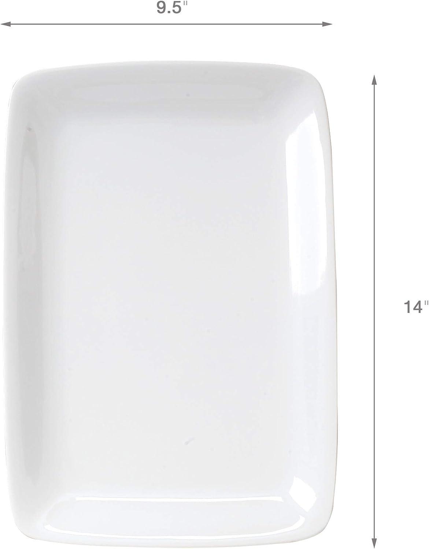 14-Inch HIC Harold Import Co 401914 HIC White Porcelain Rectangular Platter