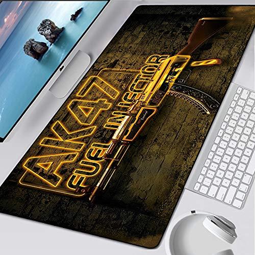 BILIVAN CSGO Großes Gaming-Mauspad AWP Computer Gamer Anti-Rutsch-Mauspad CS GO Mäuse Tastatur Schreibtischschutz Gummi Schreibtisch Spielmatte Pad XL (6)