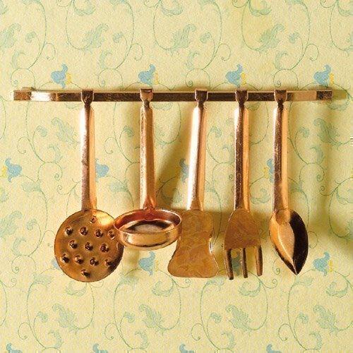 La maison de poupées Emporium ustensiles de cuisine, 5 pièces