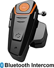 Baile Motorcycle Bluetooth Headset,1000M Helmet Bluetooth Communication Systems Ski Helmet Headphones Bluetooth Intercom Walkie-Talkie for Snow Mobile,Up to 3 Riders (Handsfree,FM Radio, Waterproof)