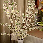firlar artificial cherry blossom branches, 10 bunches spring peach blossom silk flowers fake floral arrangements for home wedding decoration, 26