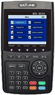 ICQUANZX WS-6916 HD Satellite Signal Finder Meter, DVB-S/S2 Digital Directv Dish Network Satellite TV Finder with MPEG-2/MPEG-4, Black