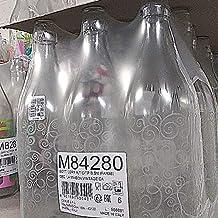 Cerve Set 6 Pezzi Bottiglia Vetro Maison Acqua da 1 litro (100cl) Elegante con Tappo Meccanico ermetico per Acqua Olio Bev...