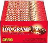 100 Grand Milk Chocolate Halloween Candy Bars, Full Size Bulk Individually Wrapped Ferrero Cand…