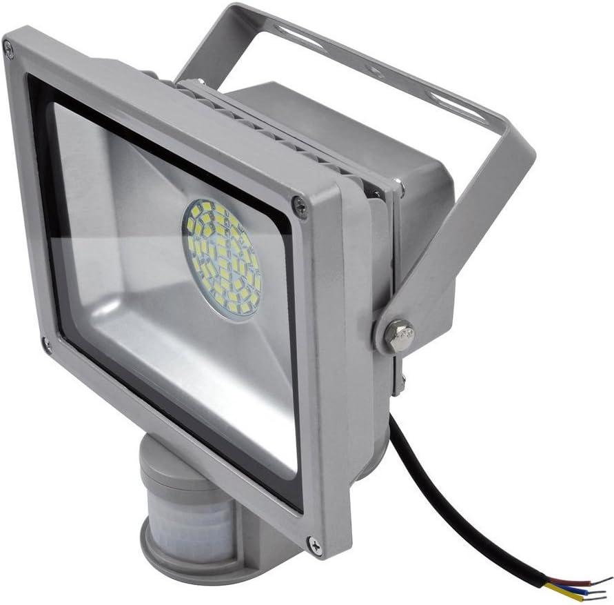 [Rondaful] 2er Set 20W LED Fluter Strahler + Bewegungsmelder 1700-1800Lm Kaltweiß Spot Außenstrahler Lampe IP65 wasserdicht Objektbeleuchtung Flutlicht,ohne Stecker Kaltweiss 30w