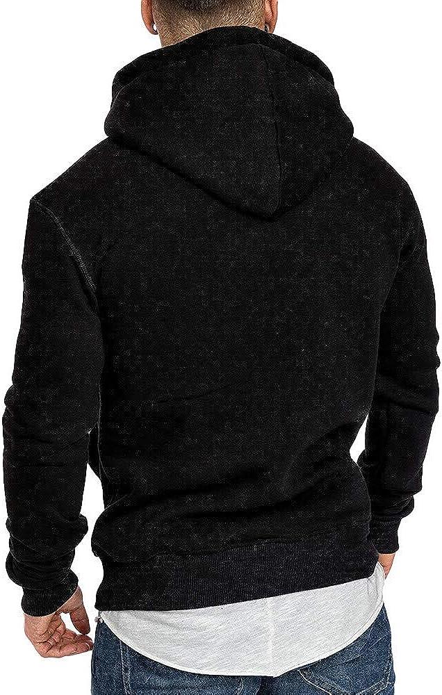 Mens Hoodies Men's Casual Pullover Hoodies Loose Long Sleeve Hooded Sweatshirts Workout Sports Sweater