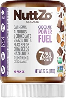 NuttZo Organic Chocolate Power Fuel Seven Nut and Seed Butter, 12 Ounce