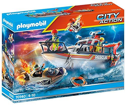 PLAYMOBIL City Action 70140 Löscheinsatz mit Rettungskreuzer, ab 4 Jahren
