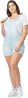 WallFlower Juniors Plus Size Soft Denim Shortalls