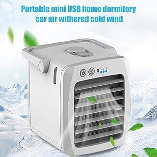 smilerr - Mini enfriador evaporativo ventilador de aire acondicionado USB de escritorio perfecto para la mesilla de noche y la oficina