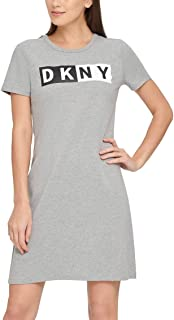 D K N Y Sport Womens Fitness Activewear Logo Dress, Gray S