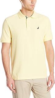 Nautica Men's Classic Short Sleeve Solid Performance Deck Polo Shirt