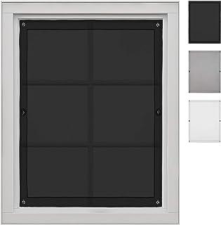 Greatime Cortinas de Ventosa de Gasa, Cortinas translúcidas Que se Pueden Usar para Ventanas de Techo, con Buena Permeabilidad al Aire y privacidad… Negro 38x75 cm