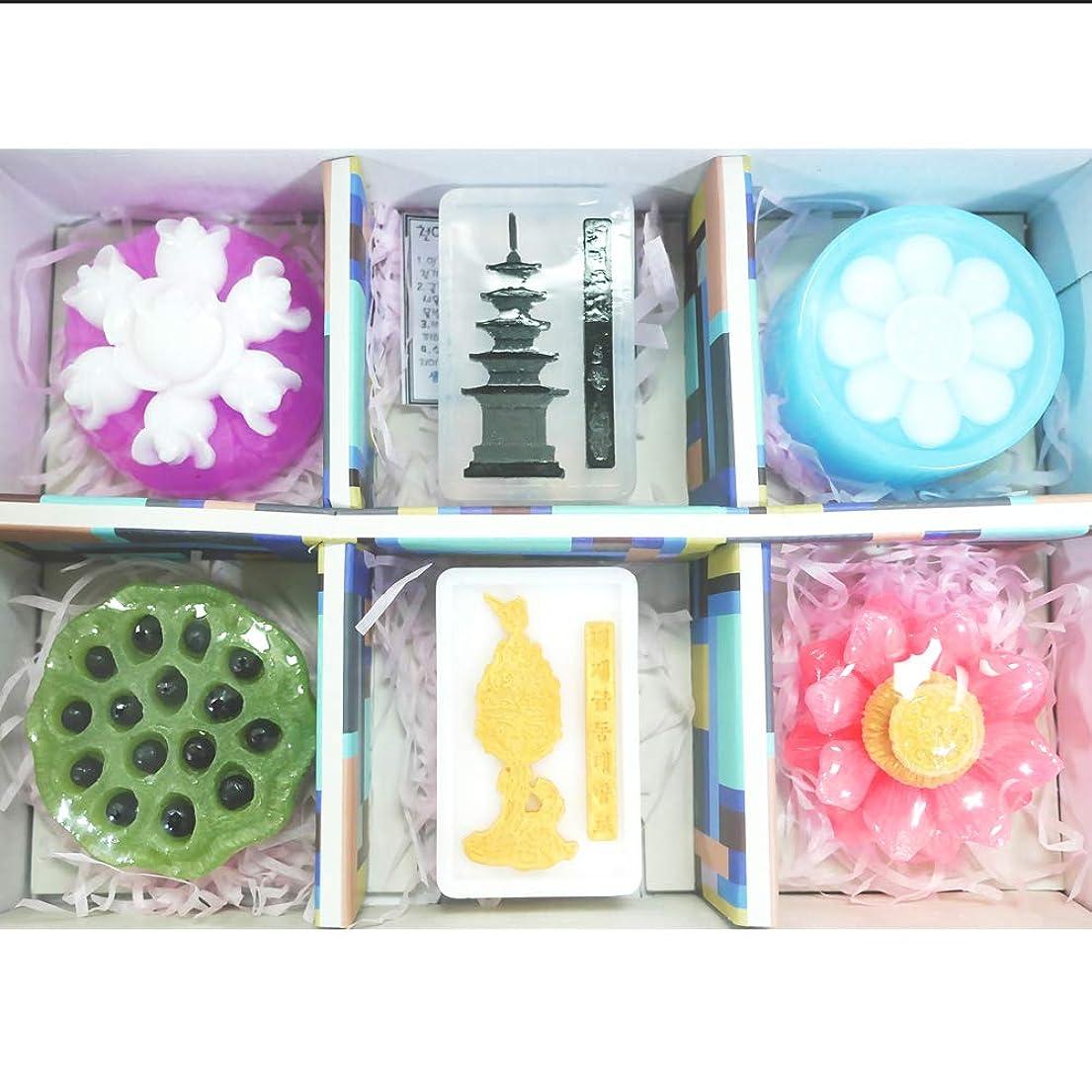 補償発火するタブレット[ソドン] 韓国 百済 手漉き石鹸 1 セット(3.5オンスx 6石鹸)