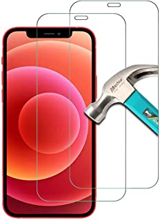 AFGLOOY 2 Pack, Compatible with iPhone 12/ iPhone 12 Pro 6.1 inch Screen Protector, Tempered Glass for iPhone 12 Pro, 9H S...