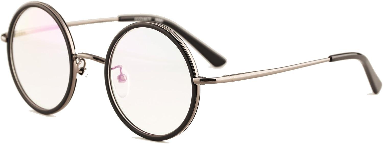 Agstum Vintage Retro Small Round Prescription Optical Eyeglass Frame