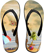Ernest Congreve Womens Slippers Summer Spring Flowers Mens Thong Flip Flops Sandals for Adult Unisex Indoor