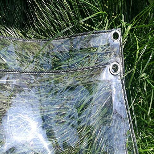 MHBGX Lona Grande Resistente, Lonas de Pvc Lona Transparente Lona Transparente a Prueba de Polvo Lona para el Suelo Plástico para Acampar Carpa Impermeable de Vidrio Blando - 450G / M²,Los 4X5M,Los 4