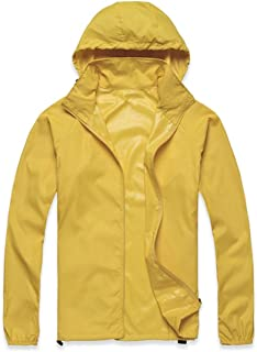 Lanbaosi Women's Lightweight Jacket Uv Protect+Quick Dry Windproof Skin Coat 3X-Large Golden Yellow