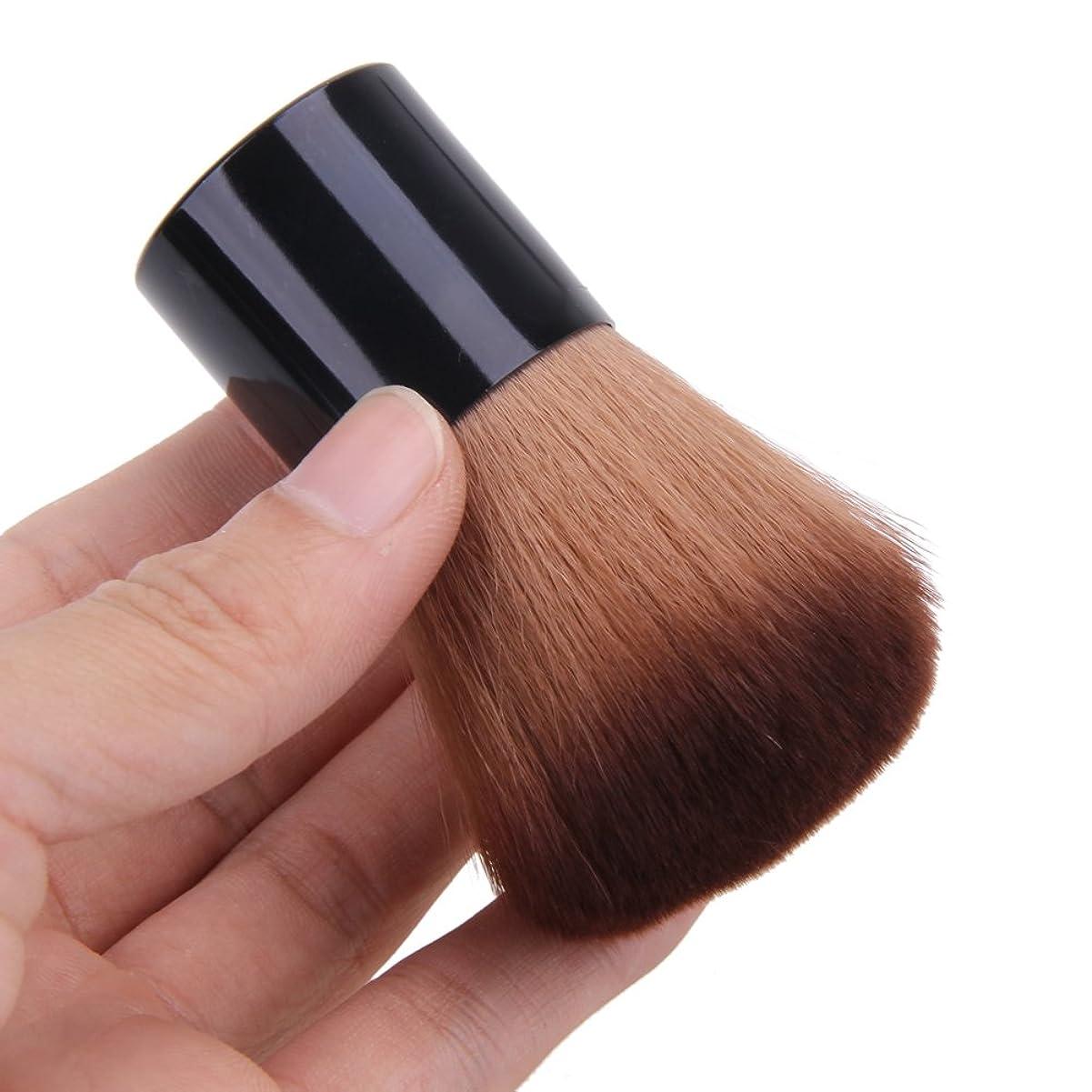 オーバードロー東方アレルギーYumbyss - フェイス化粧品カラフルなメイクブラシのためにブラッシュブラシ1PCSフェイスメイクブラシパウダーブラッシュ輪郭財団フラットトップブラシ