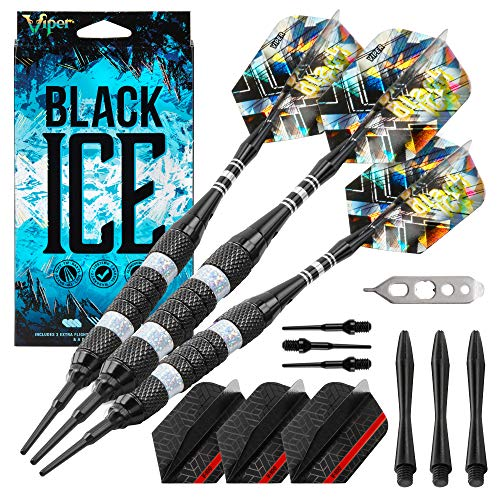 Viper schwarz Ice Soft Spitze Darts, Unisex, Silver Rings