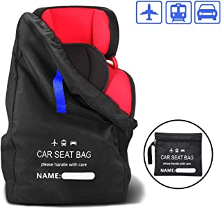 Car Seat Travel Bag,Fits Most Carseat Models,Adjustable Padded Carseat Backpack,Waterproof & Portable & Large Capacity Baby Car Seat Storage Bag Stroller Carrier for Airplane,Train
