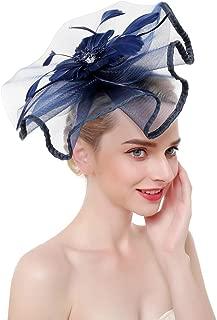 SMSW Fascinators Hat for Women Mesh Hair Clip Kentucky Derby Cocktail Headband Flower Tea Party Wedding Headwear
