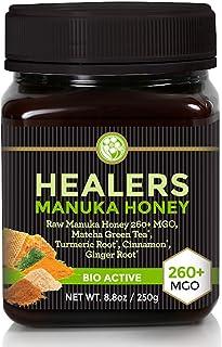 Manuka Honey With Healing Herbs MGO 260+ (NPA 10+) with Organic Matcha Green Tea, Organic Turmeric Root, Organic Cinnamon,...