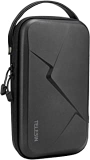 TELESIN Large Carrying Case for GoPro Hero 8 7 6 5 4 3, DJI Osmo Pocket Action, Insta360 One X, More Small Digital Camera,...