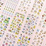 PMSMT 6 unids/Set DIY Lindo Animal de Dibujos Animados pequeño Gato Fresco patrón calcomanías calcomanías Mano Linda para decoración de Diario teléfono móvil