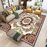 NF Alfombras grandes de estilo europeo impresión 3D para sala de estar, dormitorio, decoración de área, alfombra de hogar, pasillo antideslizante, 160 x 230 cm