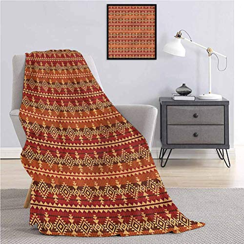 Toopeek Mexican Superfine Fiber Luxury Bed Blanket Aztec Culture Ornament Lightweight Super Soft and Comfortable W60 x L70 Inch