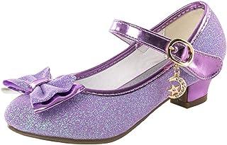 Chaussure Talon Fille Chaussure Princesse Enfant Sandales Bowknot Paillette Fête Petite Fille