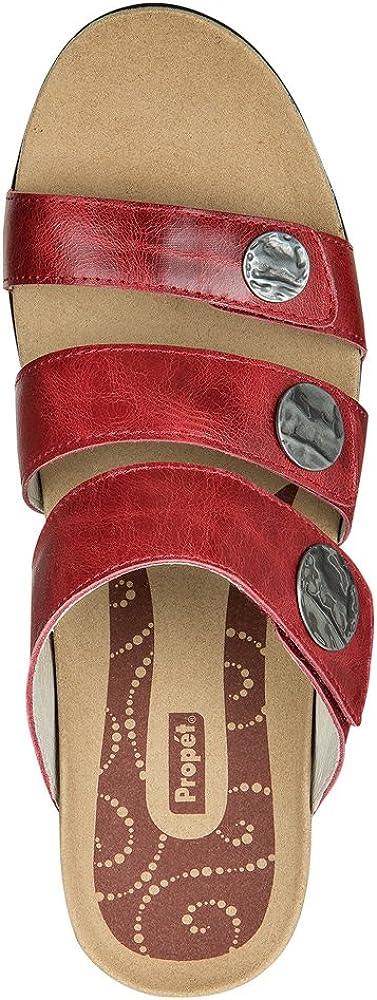 Propet Rejuve Annika Slide Sandals Cayenne