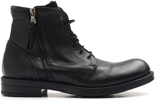 PAWELKS - negro Leather Pawelk's hi-Top Lace up zapatos with Zip - 15516CALIF negro