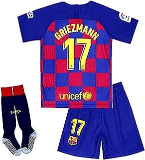 New 2019/2020 Season 17 Griezmann Barcelona Home Kids Jersey/Shorts/Socks