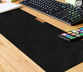 Trend Matters Large Felt Full Desk Coverage Gaming and Office Mouse Pad, Anti-Slip Waterproof Rubber Base Mouse Mat for Office Computers, Games, Laptop, and PC