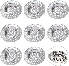 BETOY RVS gootsteen zeef, 8 stuks gootsteen afvoerfilter gemakkelijk schoon te maken voorkomen verstopping keuken gootstee...
