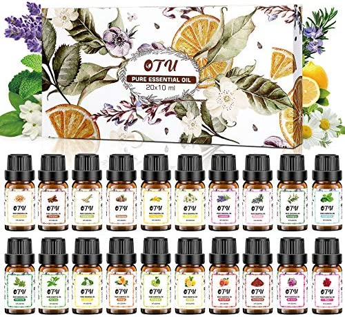 OTU Essential Oils Set 20 Packs 20x10 ml 100 Pure Therapeutic Oils Set Pure Fragrance Oil Organic product image