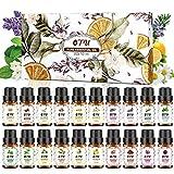 OTU Essential Oils Set (20 Packs), 20x10 ml 100% Pure Therapeutic Oils Set, Pure Fragrance Oil Organic Aromatherapy Oils Gift Set for Diffuser Massage & DIY 0.34 Fl Oz
