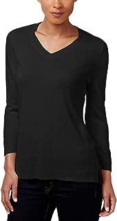 Karen Scott Petite Luxsoft V-Neck Sweater
