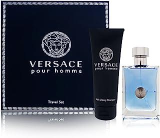 Versace Pour Homme for Men 2 Piece Set Includes: 3.4 oz Eau de Toilette Spray + 3.4 oz Hair and Body Shampoo