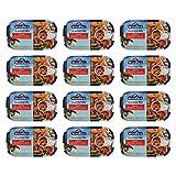 12er Pack Rügen Fisch Scomber Mix (12 x 120 g) Makrelenfilet zerkleinert mit Gemüse...
