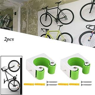 Integrity 2Pcs Bike Parking Hebilla Bike Wall Hanger Rack con Diseño De Hebilla Ahorro De Espacio para El Hogar Y La Tienda De Bicicletas Modelos de Bicicleta de montaña Verde