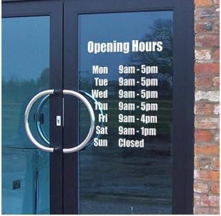 Art Décor Horaires d'ouverture Nom du magasin Custom Vinyl Sign Wall Sticker Café Bar Salon de Coiffure Fenêtre40 * 34cm