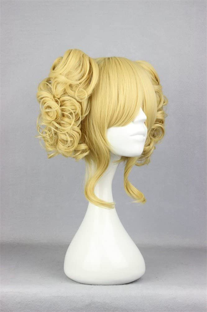 LanTing Cosplay Peluca Cosplay Full Wig Heat Resistant Fiber 2Clips Black Cosplay Party Fashion Anime Wig Beauty Smooth Cabello