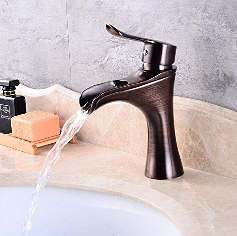 Schwarzwasserhahn Bad Schwarzkugel Bad Facette Hei- und Kaltmischer Becken Mischbatterie Wasserfall Spüle Mischbatterie Kugel