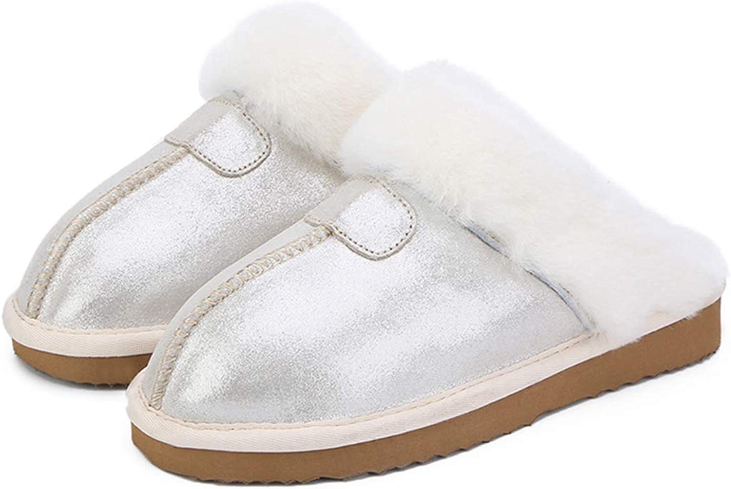 NOMIMAS Fashion Warm Women shoes Natural Fur Slippers Home shoes Winter Suede Slippers Woman Indoor shoes Wool Slippers