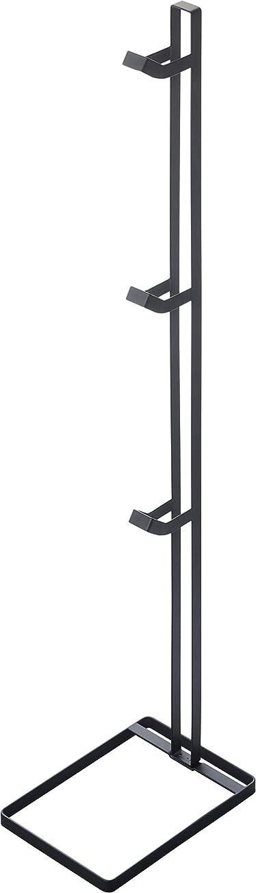 未使用予算パケット山崎実業(Yamazaki) ヘルメットスタンド タワー ブラック ブラック W16.5×D23×H90.2cm 4448