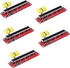 HiLetgo 5pcs 10K Logarithmic Slide Potentiometer Log Slide Pot Potentiometer Module Dual Output for Arduino AVR Electronic Block